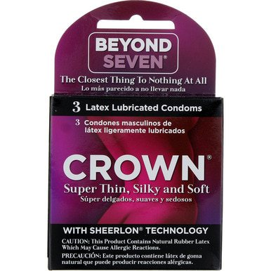 Beyond Seven Crown Condoms, 3 Ct