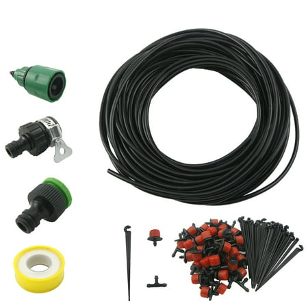 82 Feet 25m Micro Drip Irrigation System Plant Self Watering Garden Hose Kit
