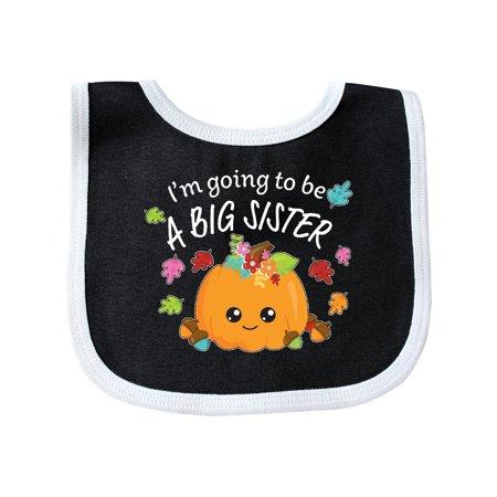 I'm Going to be a Big Sister- cute Halloween pumpkin Baby Bib Black/White One Size](Halloween Bibs)