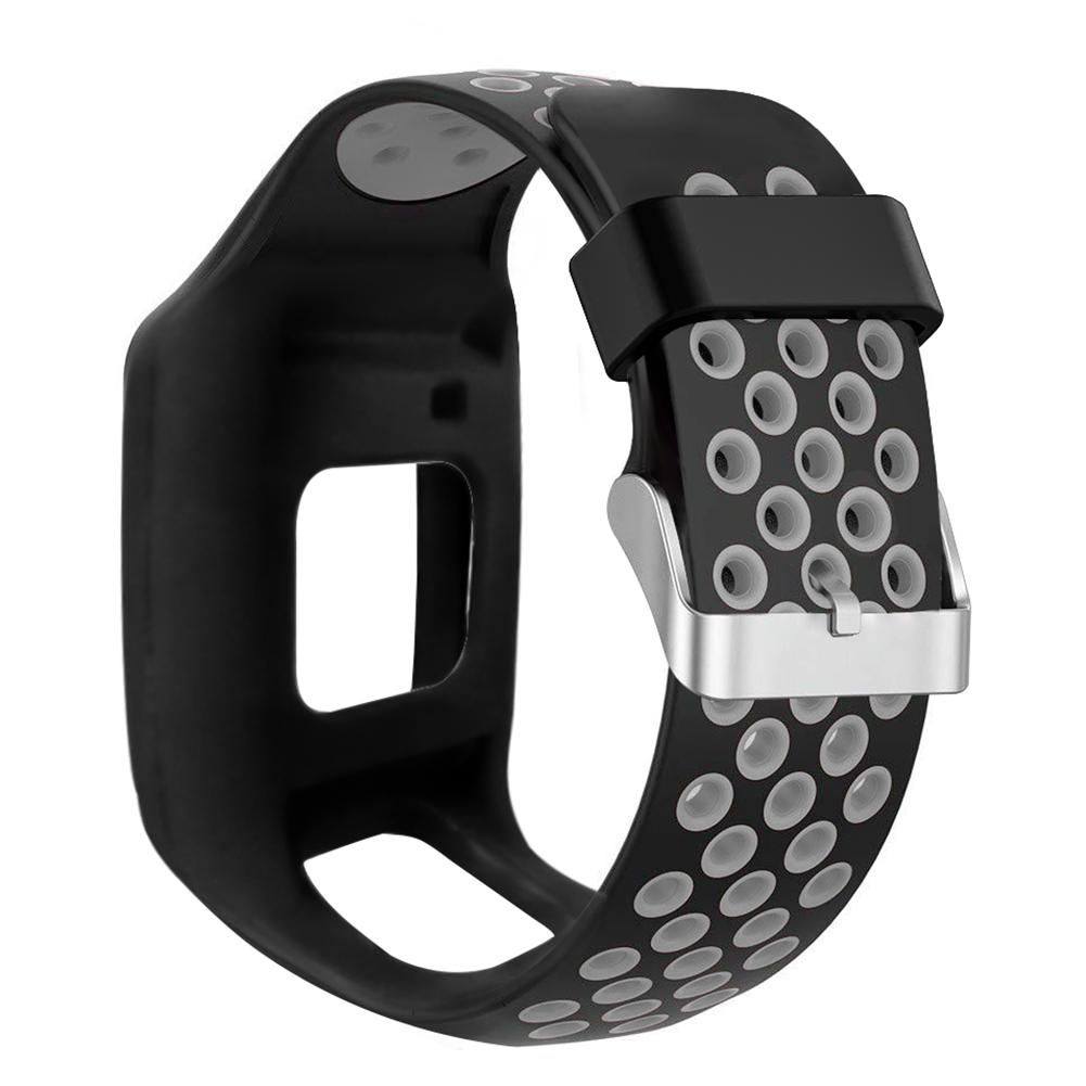 Bracelet de fitness avec fermoir Golfer 1 Noir Bracelet de rechange en silicone pour montre TomTom Runner 1 Multisport