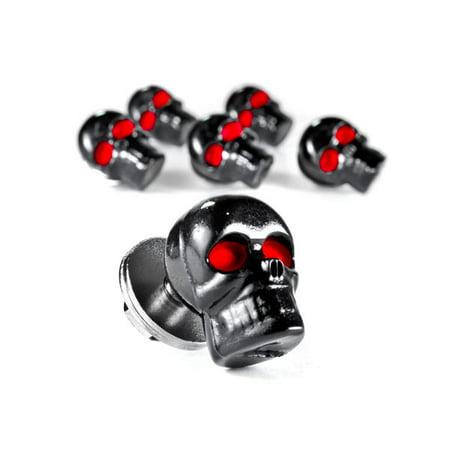 Custom Black Skeleton Skull Bolt Nuts Screws 6mm For Victory Cross Country - image 5 de 6