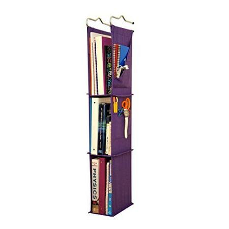 Locker Ladder Locker Organizer Hanging Shelves, Sewn and Assembled in USA (Purple)