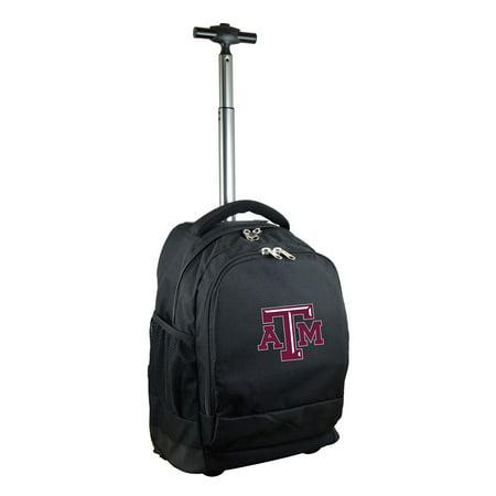 Texas A&M Aggies 19 Premium Wheeled Backpack - Black