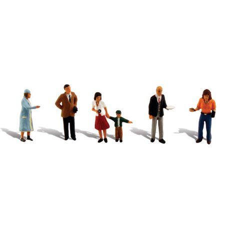 HO Scale Scenic Accents Figures/People Set Going Places, WOO By Woodland Scenics