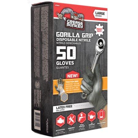 Grease Monkey Traction Grip Nitrile Disposable Glove, (Nitrile Piston)