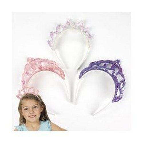 Fun Express Pastel Sequin Tiaras (1 Dozen)