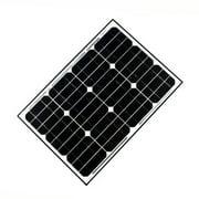 ALEKO Solar Panel Monocrystalline 40W for any DC 12V Application (gate opener, portable charging system, etc.)