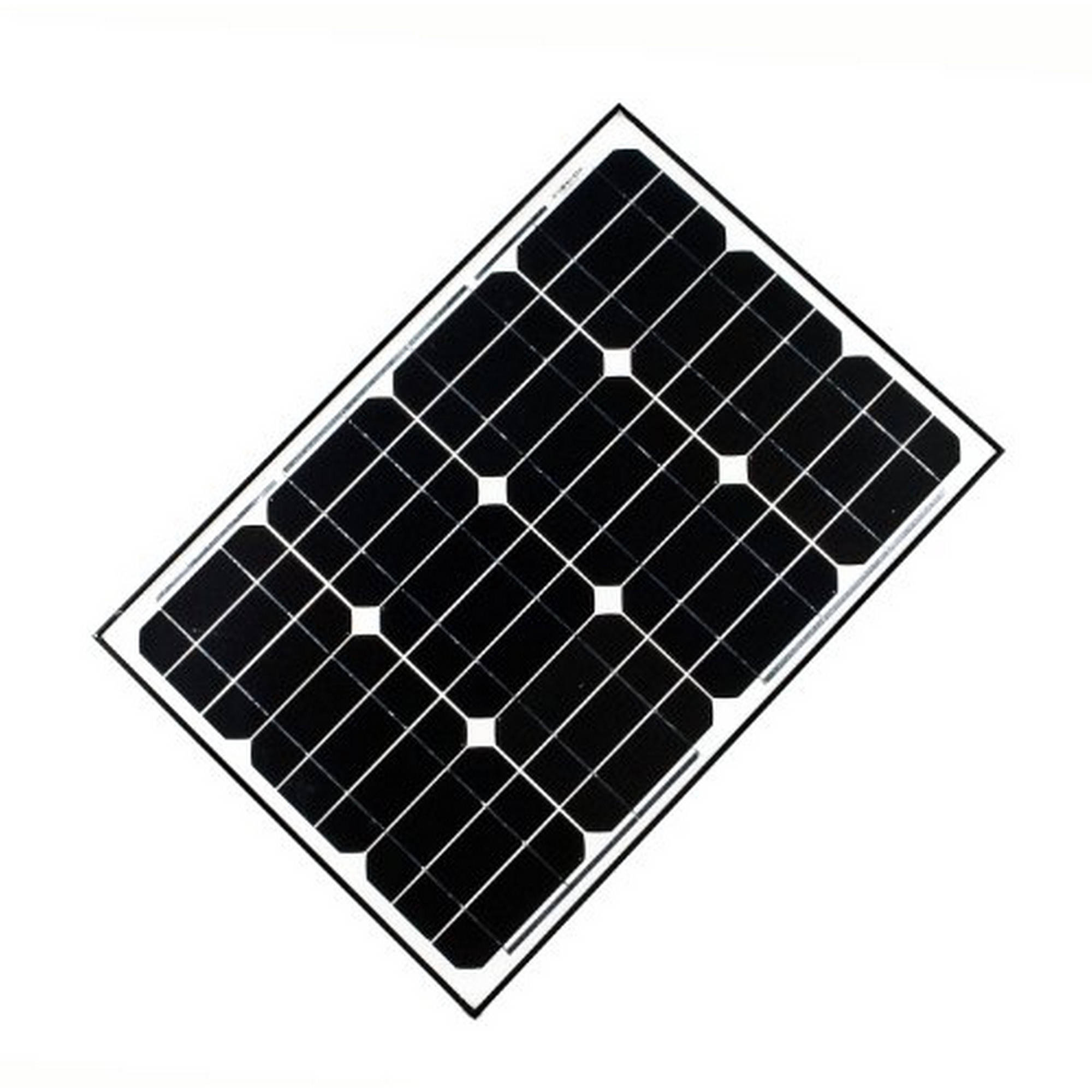 ALEKO Solar Panel Monocrystalline 40W for any DC 12V Application (gate opener, portable charging system, etc.)