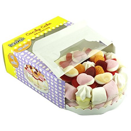 Raindrops Candy Cake Made From Assorted Soft Candy, 48 Candies Including Gummy and Marshmallows