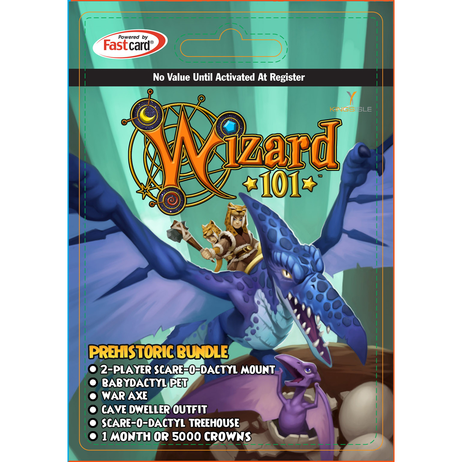KingsIsle Wizard101 Prehistoric Bundle $29 Card