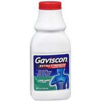 4 Pack - Gaviscon Antacid Liquid Extra Strength Cool Mint Flavor 12 oz
