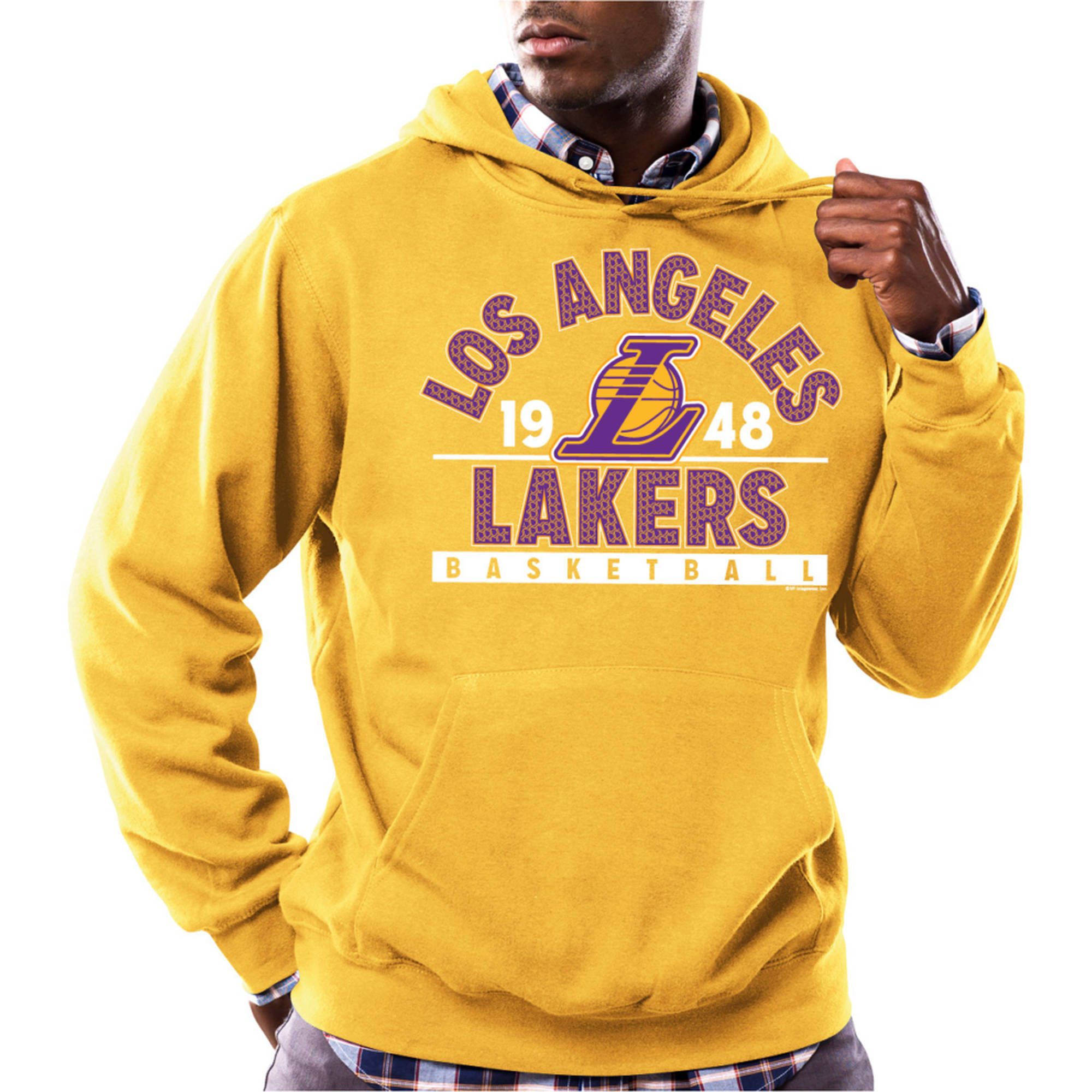 NBA Los Angeles Lakers Men's Team Regime Long Sleeve Fleece Pullover
