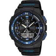 Casio Men's Classic Twin Sensor Thermometer Compass Black with Blue Watch SGW500H-2BV