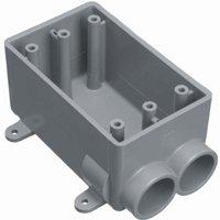SWITCHBOX PVC 1G FSS EXPD 3/4