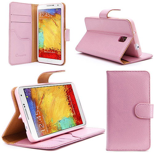 Leather Book Folio Wallet Case for Samsung Galaxy Note III N9000