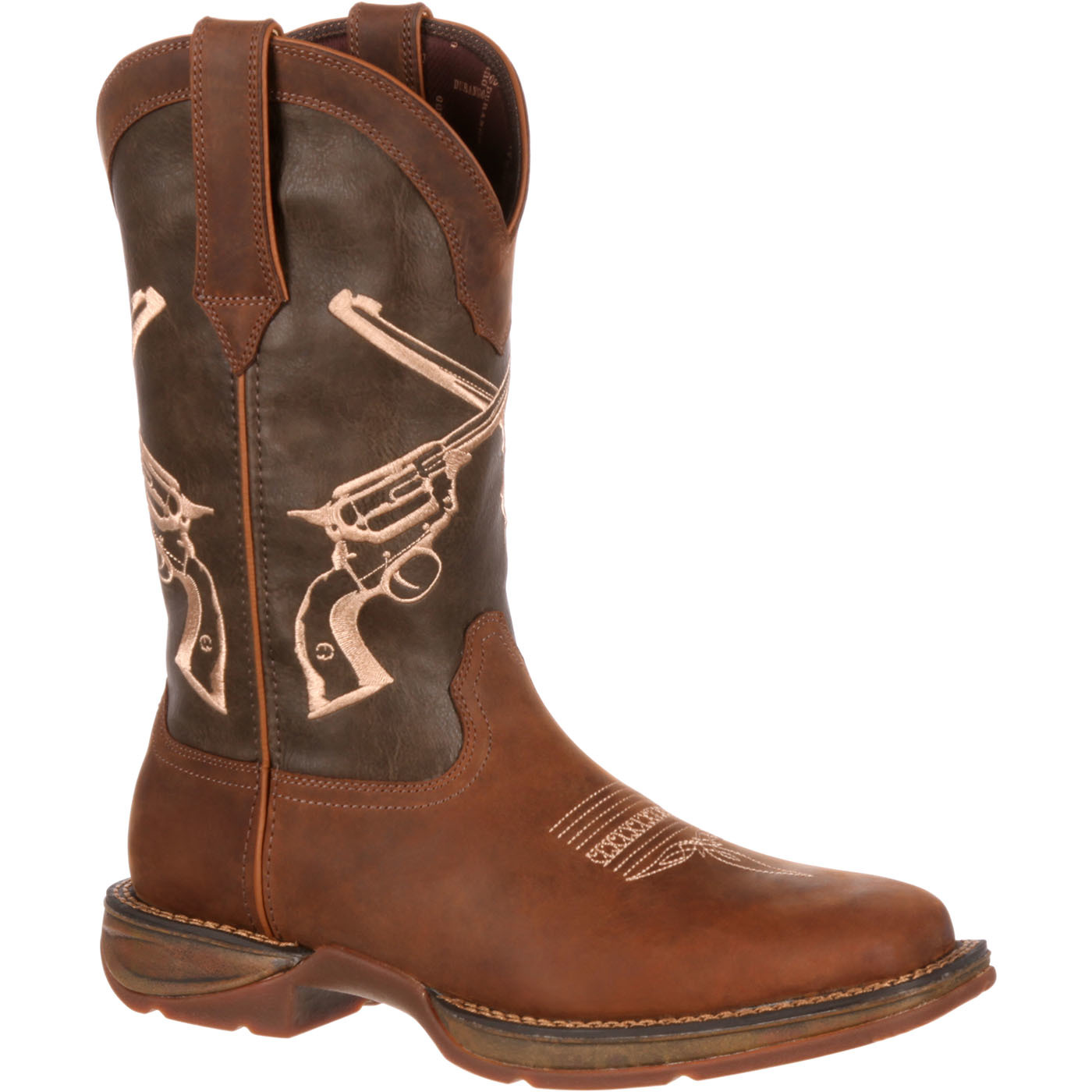 "Durango DDB0077 12"" Rebel Crossed Guns Embroidered Pull On Cowboy Western Boot by Durango"