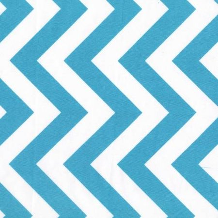 SHASON TEXTILE (3 Yards cut) CRAFT PROJECTS POLY COTTON CHEVRON PRINT FABRIC, TURQUOISE, Available In Multiple Colors Blue Kona Cotton Fabric