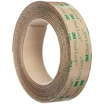 3M Dual Lock Reclosable Fastener TB4570 Low Profile Clear, 1 in x 10 ft (1 Mated Strip/Bag)