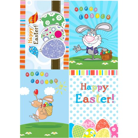 (4 Happy Easter Animated Postcard Greeting Card)