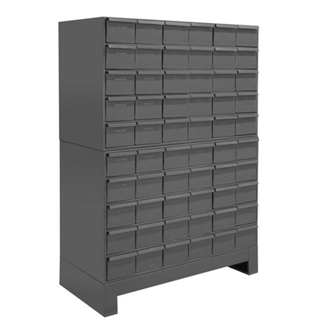 12.25 in. Steel 60 Drawer Cabinet for Small Part Storage, Gray