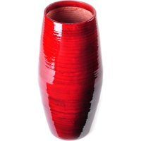 "Lerman Décor Bamboo 12"" Red Spun Round Taper Vase, 1 Each"