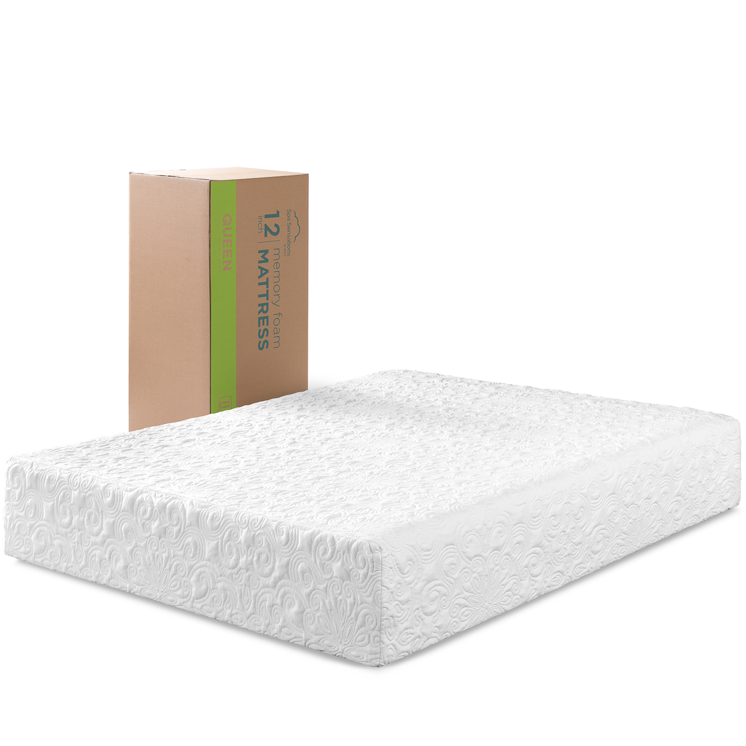 Spa Sensations By Zinus 12 Theratouch Memory Foam Mattress Queen