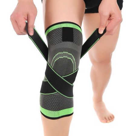Adjustable Knee Brace and Support Bilateral Hinges Non-slip Breathable Patella Stabilizer Compression Sleeve Pain Relief for Men & Women Arthritis, Football, Running,