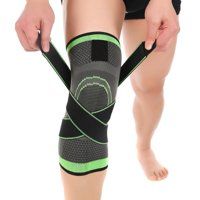 Adjustable Knee Brace and Support Bilateral Hinges Non-slip Breathable Patella Stabilizer Compression Sleeve Pain Relief for Men & Women Arthritis, Football, Running, Jumping