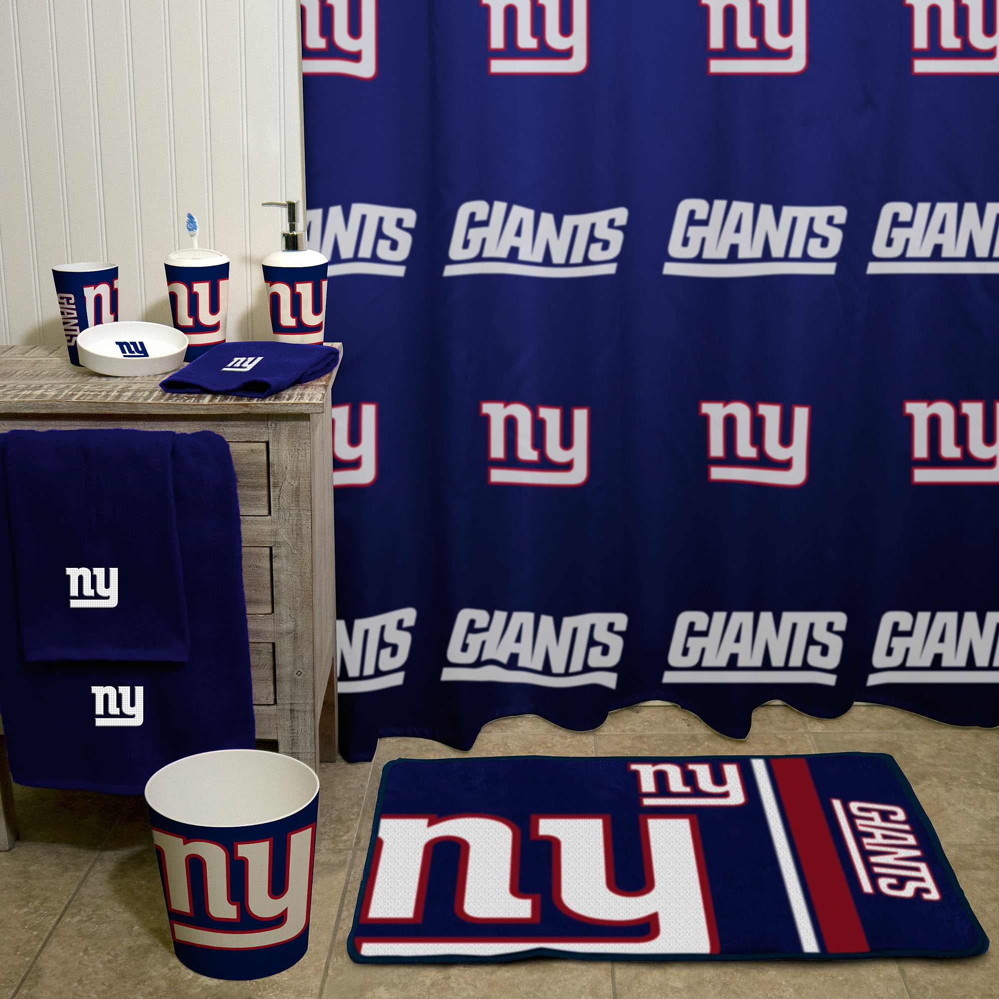 NFL New York Giants Decorative Bath Collection - Shower Curtain ...