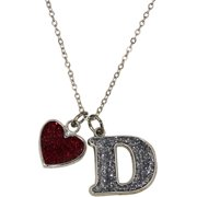 Glitter Initial D Necklace