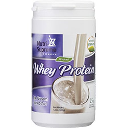 Nutri-Supreme Research Kosher Whey Protein Powder Ice Cream Smoothie Flavor with Erythritol & Stevia Dairy Cholov Yisroel - 1 -