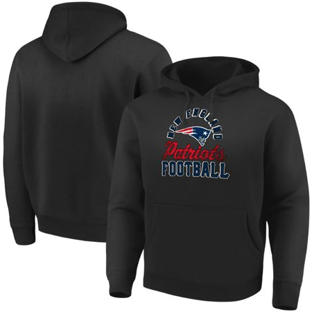 New England Patriots Majestic Showtime Kicker Pullover Hoodie - Black