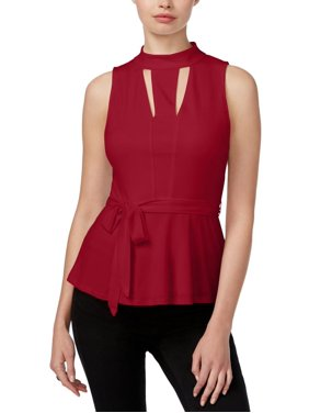 a10fc03787 Product Image Guess Womens Tiana Ponte Cut out Peplum Top