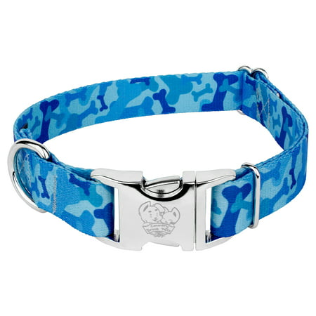 Country Brook Design® Blue Bone Camo Premium Dog Collar