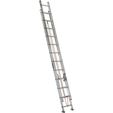 Louisville Ladder 24 ft. Aluminum Extension Ladder, Type III, 200 Lbs Load Capacity, L-2324-24