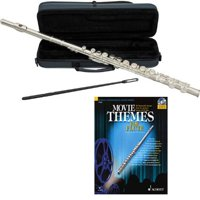 Movie Themes Flute Pack - Includes Flute w/Case & Accessories & Movie Themes Play Along Book
