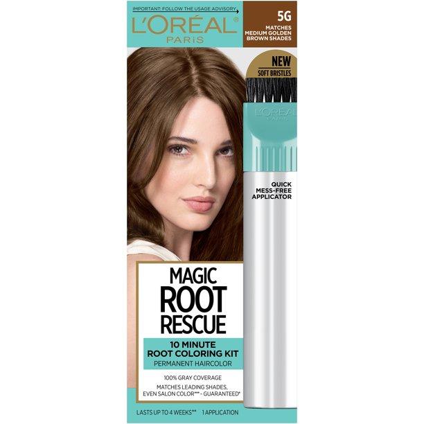 L Oreal Paris Magic Root Rescue 10 Minute Root Hair Coloring Kit 5g Medium Golden Brown 1 Kit Walmart Com Walmart Com