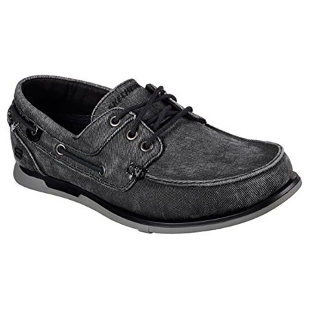 Skechers Relaxed Fit Eris Inaldo Mens Boat Shoes Black 9.5
