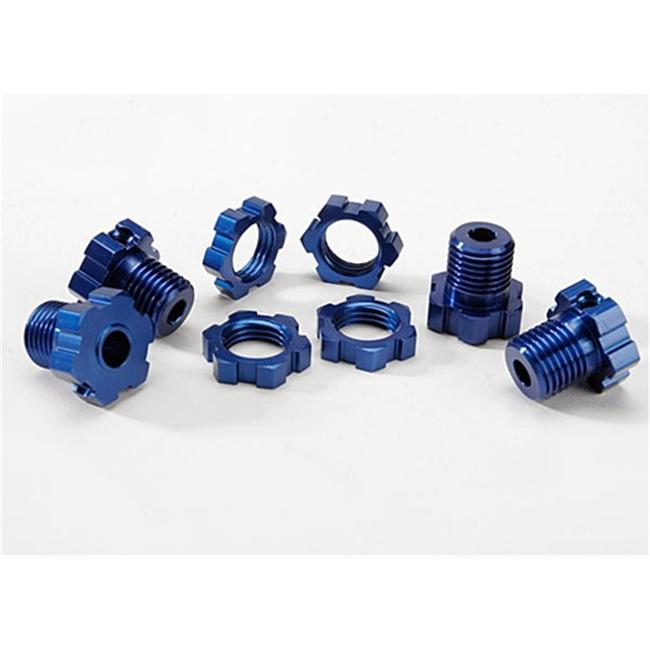 Traxxas TRA5353X 17mm Wheel Hubs and Nuts Splined - Blue-Anodized