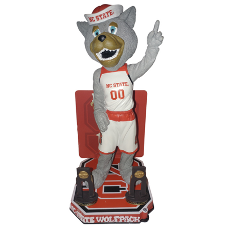 Mr Wuf Mascot Nc State Wolfpack North Carolina State University Ncaa Mens Basketball National Championship Series   Numbered To Only 216 Bobblehead