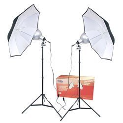 RPS RS-4082 Light Kit 2 Lights Umbrellas Stands