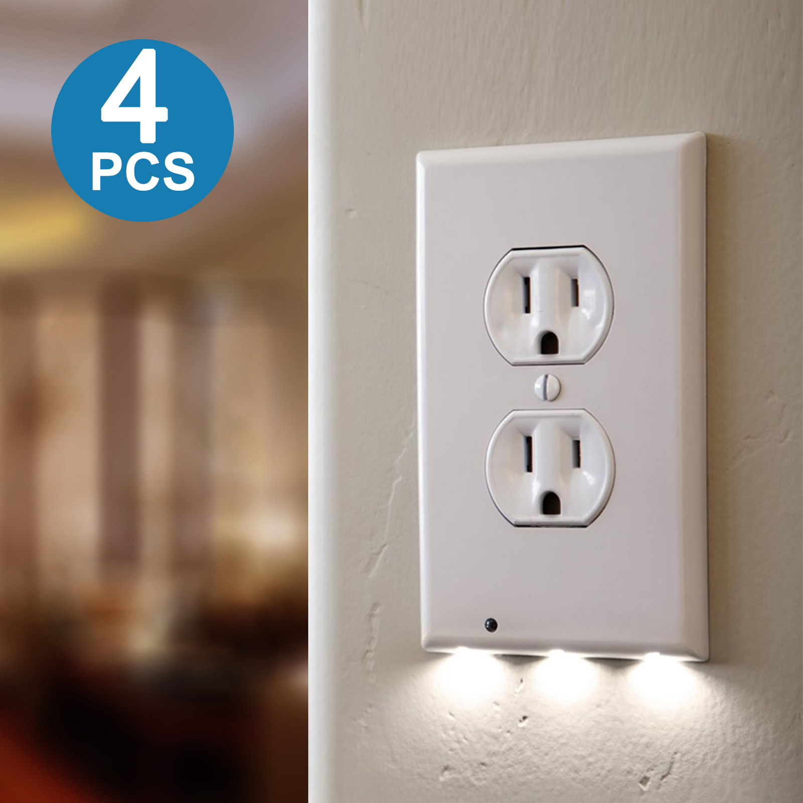 Led Night Light Wall Outlet Duplex Cover Outlet Covers With Led