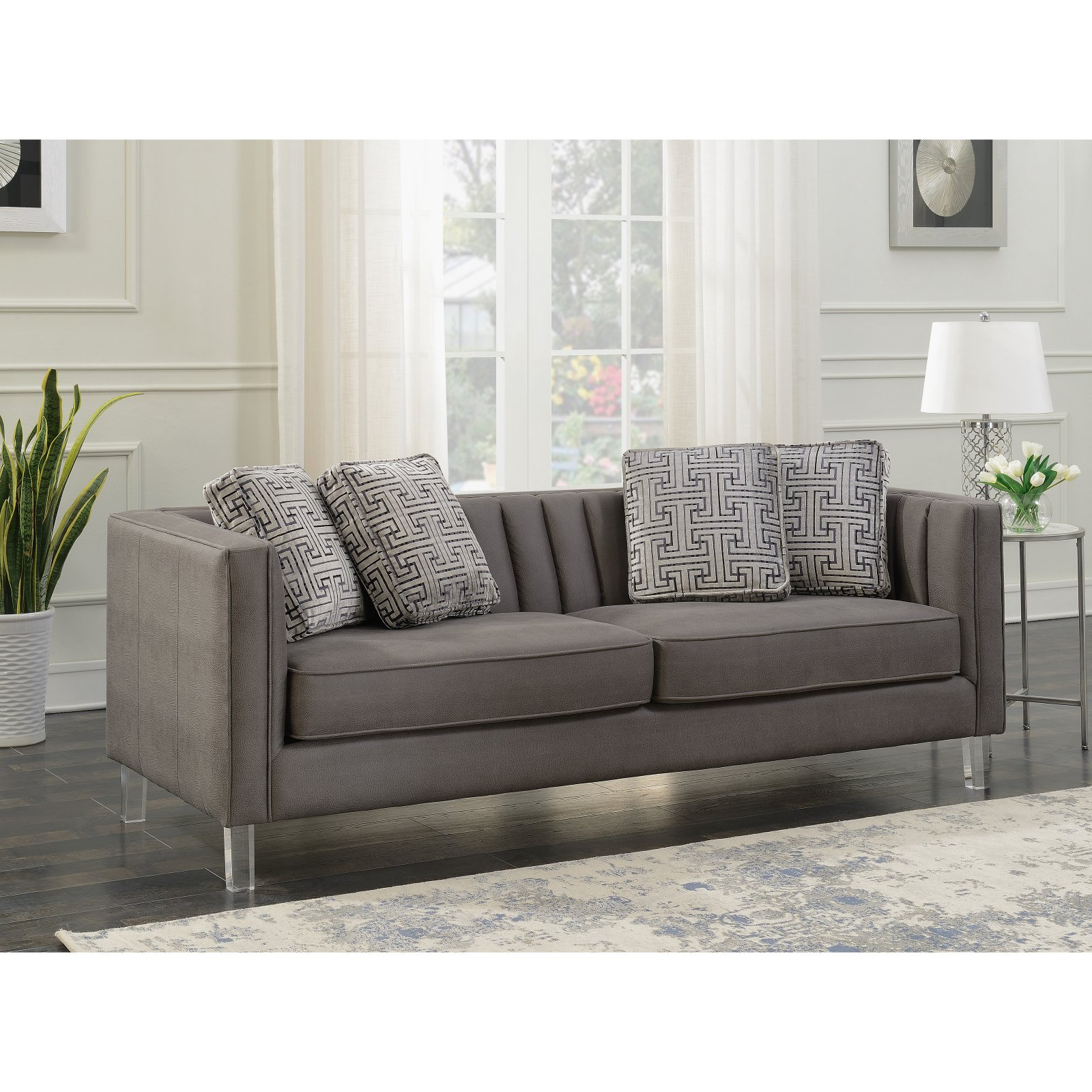 HomeFare Chic Channeled Sofa
