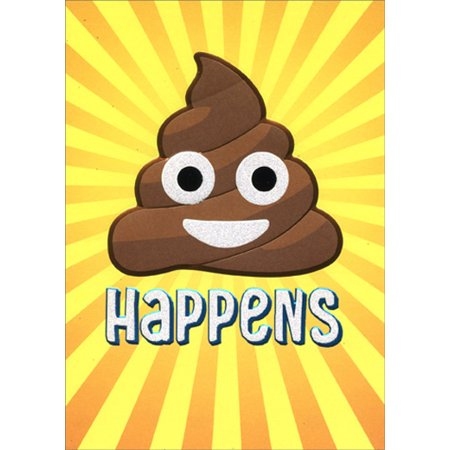 Avanti Press Poop Happens Emoji A-Press Funny Friendship Card