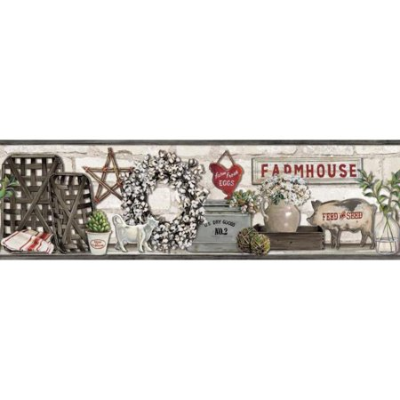 Farmhouse Shelf Wallpaper Border ()