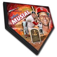 "Stan Musial St. Louis Cardinals 11.5"" x 11.5"" Home Plate Player Plaque - No Size"