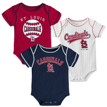 Newborn & Infant Red/Navy/White St. Louis Cardinals 3-Pack Bodysuit