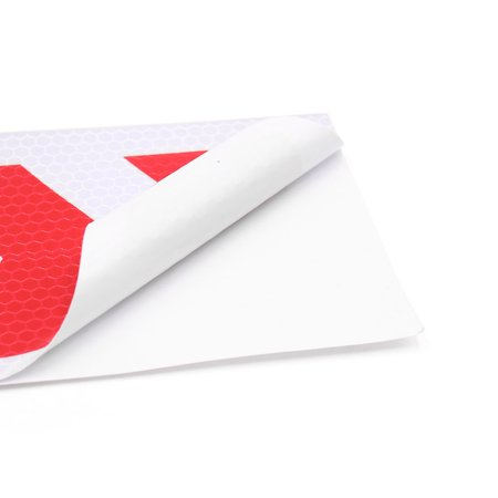 3Pcs Red White Arrows Design Car Truck Reflective Sticker Safety Warning Tape - image 1 of 2