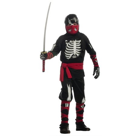 Horrorland One Dead Ninja Skeleton Costume Child size S 4/6 (Rubie's Costume Sizes)