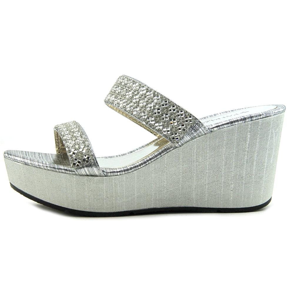 Patrizia By Synthetic Spring Step Tanuja Women  Open Toe Synthetic By Silver Wedge Sandal 296f0e